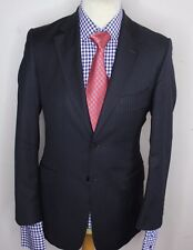 PAUL SMITH LUXURY DESIGNER SUIT PIN STRIPED NAVY CLASSIC FIT 36x32x29