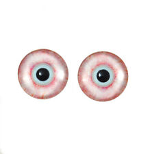 14mm Bloodshot Zombie Horror Glass Eyes, Sculptures Jewelry Making Taxidermy