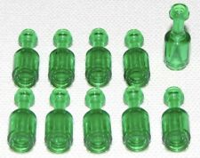 Lego X10 Pieces New Trans-green Bottle / Mini Figures Utensil Bulk Parts Lot