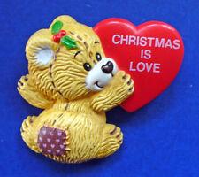 BUY1&GET1@50%~Enesco/Morehead PIN Christmas RAG TAG TEDDIES Bear LOVE HEART Vtg