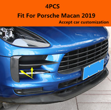 Carbon fiber Front Grill Bumper Fog light Lamp Cover Trim For Porsche Macan 2019