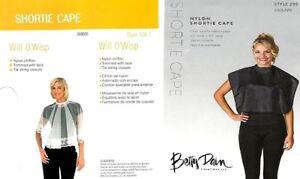 Betty Dain Will O'Wisp Shortie Cape #108 / Nylon Shortie Cape #299 FREE SHIPPING