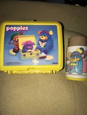 1986 Vintage Yellow Popple lunch box and thermos Popples