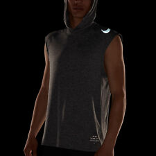Nike Run Division Element Men's Sleeveless Running Hoodie L Gray Shirt Top Tank