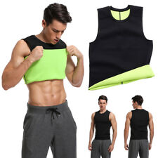 Men Slimming Body Shaper Neoprene Sport Vest Sweat Fat Burning Waist Trainer Top