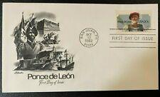 MR BRISKET'S EXPLORER PONCE DE LEON 1ST DAY OF ISSUE 1982 ARTMASTER SAN JUAN, PR