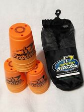 12 Orange Speed Stacks Cups with mesh tote