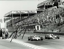 Alain Prost Renault RE30B Belgian Grand Prix 1982 Signed Press Photograph