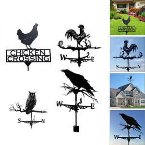Durable Weather Vane Wind Direction Indicator Home Outdoor Garden Ornament