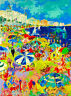 Cannes French Riviera Beach France Europe European Travel Poster Advertisement