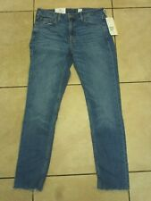 "H&M SKINNY Regular Ankle Jeans With Worn Detail Waist Size 29"" Denim Blue"