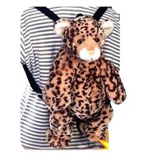 "Fiesta Leopard Backpack 16"" Inches My Plush Stuffed Animal Pet Pillows Fuzy Toys"
