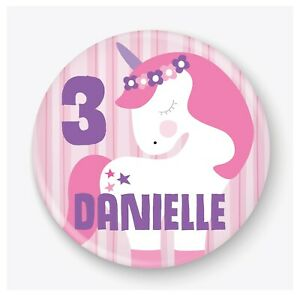 Personalised Unicorn Birthday Badge, 1st, 2nd, 3rd, 4th, 5th, 6th, 7th, 8th, 9th