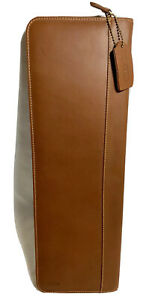 COACH Brown Leather Zipper Travel Tie Holder *Lightly Used*