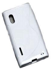 Rubber Style Silikon TPU Cover Handy Hülle Case in Weiß für LG E610 Optimus L5