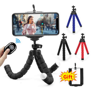 Universal Mobile Phone Holder Tripod Stand For iPhone Camera Samsung w/ Remote