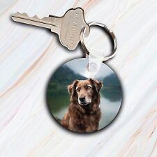 Personalised Pet Keyring-Pet Memory-Pet Paw Print-Custom Pet Photo-Lost Pet Gift