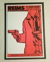 carte postale TARDI Festival du Roman et du film policiers Reims 1982