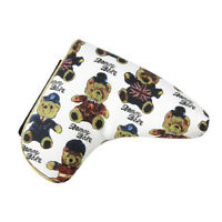 Golf Blade Putter Head Cover Lightweight PU Leather Headcover & Bear Pattern