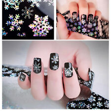 DIY Women Snowflake 3D Nail Art Transfer Foil Stickers Manicure Decor Decals