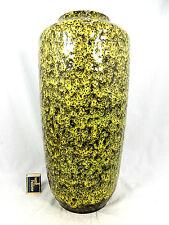 "Rare 70´s design Scheurich Keramik pottery vase yellow ""Lava""  glaze  517-45"
