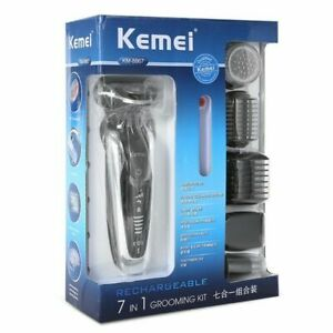 Kemei KM-8867 Rechargeable 3D Electric Shaver 7 in 1 Washable Electric Razor Men