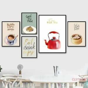 Chinese Restaurant Dumplings Foods Wall Poster Canvas Print Picture Kitchen Room