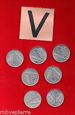 lotto 10 lire 7 monete ITALIAN COIN 1955 1973 1977 1979 1980 1981 1982 vendo