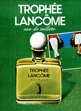 Original Vintage Golf Poster Trophee Lancome c1995 Fragrance Cologne Perfume