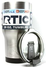 RTIC 20 oz Stainless Steel Vacuum Insulated Tumbler W/ Flip-Top Lid-NEW
