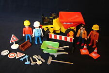 Vintage Retired Playmobil 3756 Construction Small Dump Truck w/ Lots of Extras