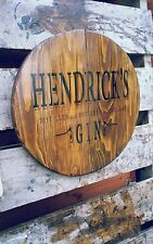 Hendricks gin round plaque wooden sign mancave shed bar pub 14inch