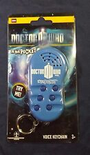 Doctor Who In Your Pocket Voice Keychain NIP 6 Different Sayings