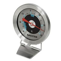 Salter Fridge/Freezer Thermometer Analogue - Standing or Hanging Stainless Steel