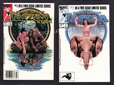Marvel Comic Set of 2~ Edgar Rice Burrroughs TARZAN Of The Apes ~1984 ~Greystoke