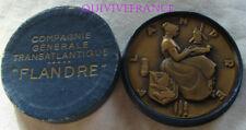 MED6457 - MEDAILLE PAQUEBOT FLANDRE Cie GENERALE TRANSATLANTIQUE par RENARD