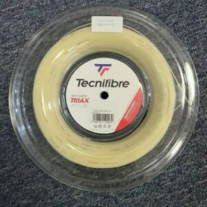 Tecnifibre Triax 17 Gauge 1.28mm 660' 200m Tennis String Reel Natural