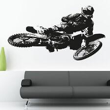 Motocross Kawasaki Moto Vinyle Art Mural Autocollant Décalque Moto mb2