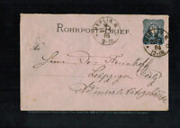 B-1116**Germany 1884**Rohrpost Pneumatic Stationery Cover