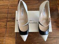 LK Bennett black and white leather UK 7 40 BNIB RRP
