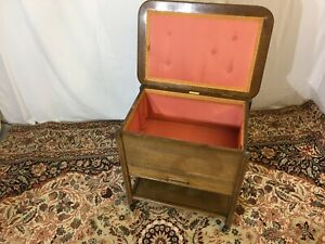 C.ARNOLD VINTAGE MID-CENTURY SEWING BOX ON CASTERS