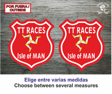 Sticker Vinilo Decal Vinyl Aufkleber Autocollant Isle of Man TT Trophy Isla 3
