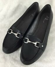 NWT Aersoles Women Size 11M Black Leather Quilted Betunia Loafer