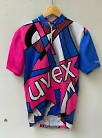 UVEX BIKESTYLE colourful short sleeve cycling jersey size approx M - L
