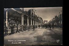 PARIS / Défilé MILITAIRE , OFFICIER à CHEVAL à la FETE DE LA VICTOIRE en 1919