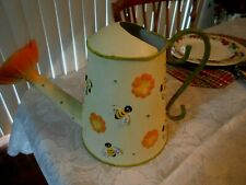"Home Interiors ""Bumblebees & Flowers"" Watering Can- New"