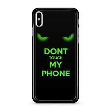 Don't Touch My Phone Angry Fuming Glowing Green Eyes Effect 2D Phone Case Cover