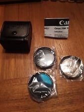 Canon FS46U 46mm Filter Set 3 Filters Camcorder Camera, UV+ND+Circular PL & Case