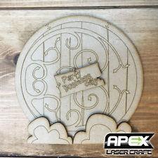 Fairy Door Kit #7 - Round Ornate Hobbit Door - Make your own Fairy Door! FYDOOR7