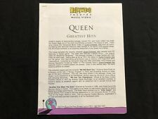 QUEEN—1992 PRESS RELEASE—'GREATEST HITS'